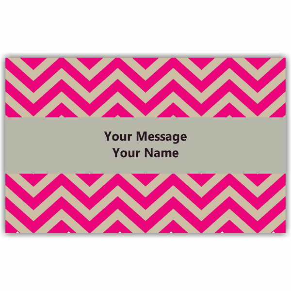 Pink Chevron Gift Tags - Set of 100