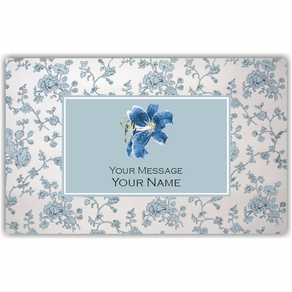 Blue Floral Gift Tags - Set of 100