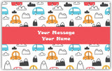 Cute Cars Gift Tags - Set of 100