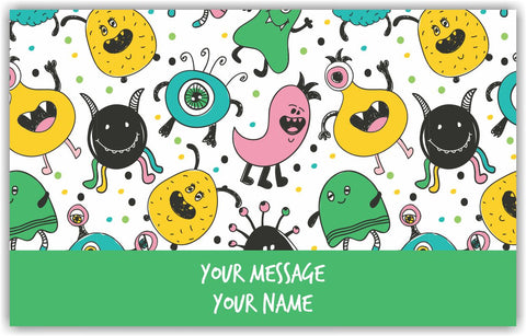 Cute Monster Gift Tags - Set of 100