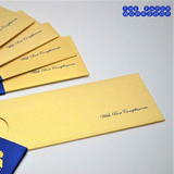 Gold Motif Envelopes - Set of 50 (Yellow)