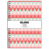 Pink Chevron A5 Notebook