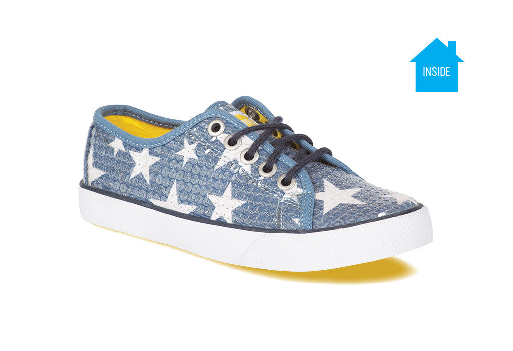 3fb9a8f66f2e Girls casual sequence sneaker with purple stars that appear when exposed to  the sun ...