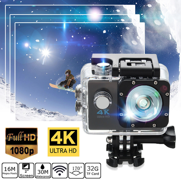Sports Action Camera - Waterproof 4K HD
