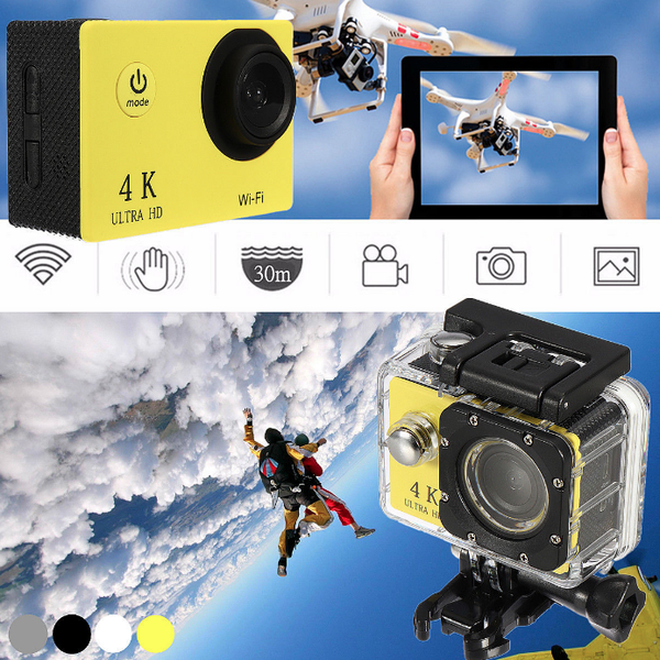 "Sports Camera - Waterproof H9 2.0"" LCD 4K HD"