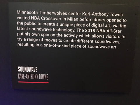 NBA Karl Anthony Townes Crossover Soundwave Art