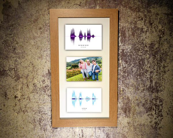 Father's Day Multi-Photo (3 aperture) Soundwave Art Print