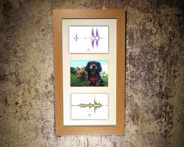 Pet Multi-Photo (3 aperture) Soundwave Art Print