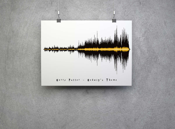 Harry Potter Hedwigs Theme Sound Art Poster Print