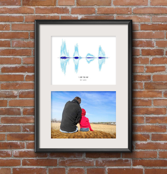 Father's Day Soundwave Art Poster Print