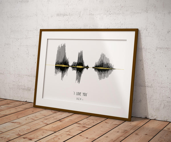 I love you sound wave art print