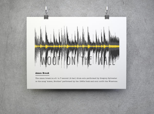 Amen Break - Soundwave Artwork Gift For Drummer