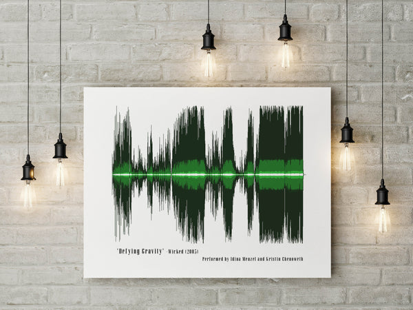 Wicked Defying Gravity Musical Soundwave Artwork
