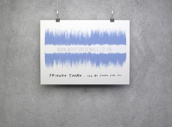 Friends theme tune Soundwave Art