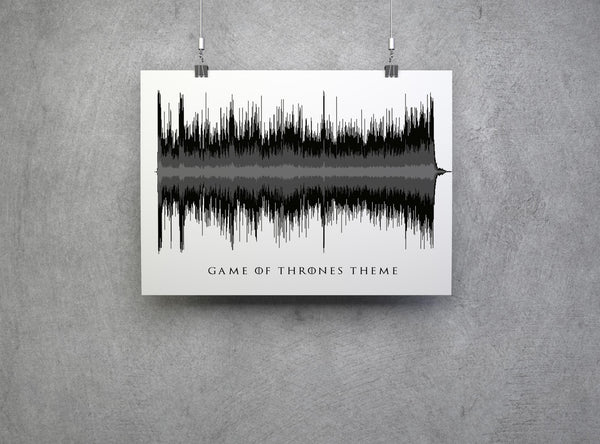 Game Of Thrones Poster Sound Art Theme Print