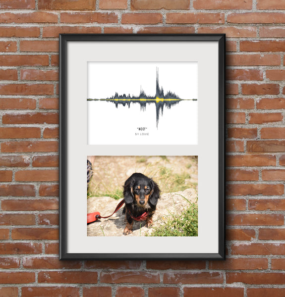 Pet Multi-Photo (2 aperture) Soundwave Art Print