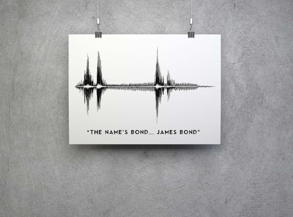 The name's bond... James Bond Soundwave Artwork