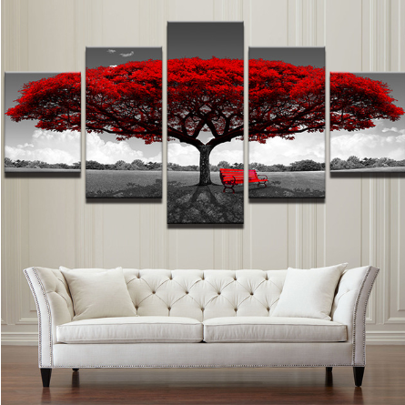 Red Tree Canvas
