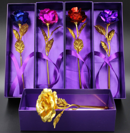 Gold Plated Rose Love Holder