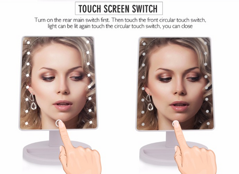 LED - Mirror Touch Screen for Makeup