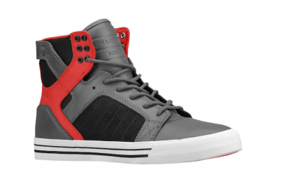 Supra Skytop Black Grey Red - dropcents cb97f9fe81f5