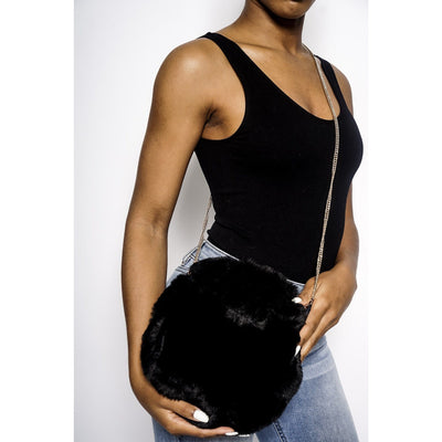 Alani faux fur crossbody