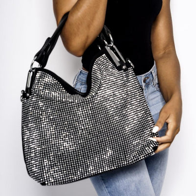 Chrissy black rhinestone bag