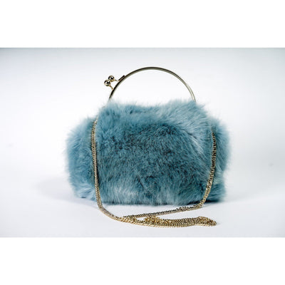 Evie faux fur handbag
