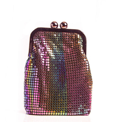 Jenise tricolor mesh metallic crossbody