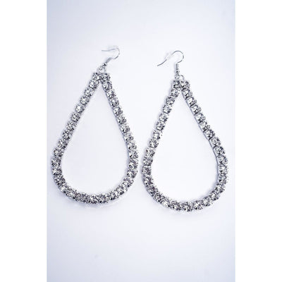 Lauryn Rhinestone Teardrop Earrings - Fashion Earrings Sale | Fearless Accessories