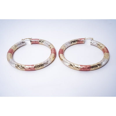 Macie Multicolor Hoop Earrings - Gold Earrings | Fearless Accessories