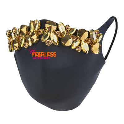 Money Talks Rhinestone Face Mask MASK Fearless Accessories