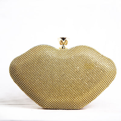Naomi Heart Rhinestone Clutch - Wallets On Sale | Fearless Accessories