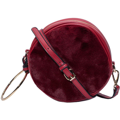 The ring leader faux fur circular bag (3 Colors) Handbags Fearless Accessories