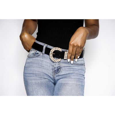 Yandy double pearl belt buckle (3 Colors)