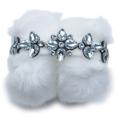 Blinged out rhinestone headband earmuffs