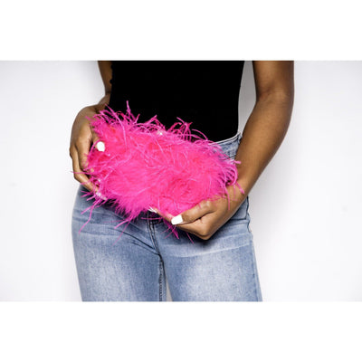 Pink Friday feather bag