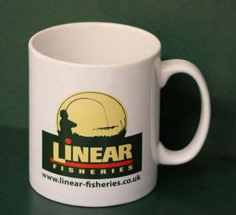 Linear Fisheries - White Ceramic Mug.