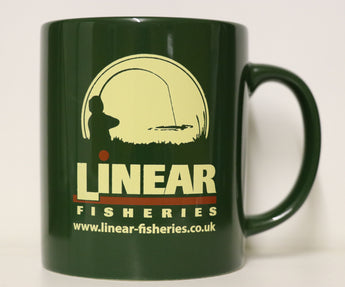 Linear Fisheries - Green Ceramic Mug.