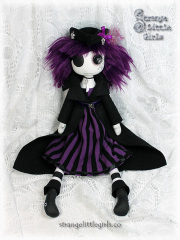 Large custom button eyed doll