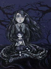 Original Gothic painting - Lolita on a Wednesday by Jo Hards