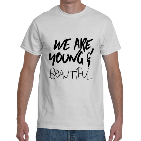 FONT STUFF - Young and Beautiful - White