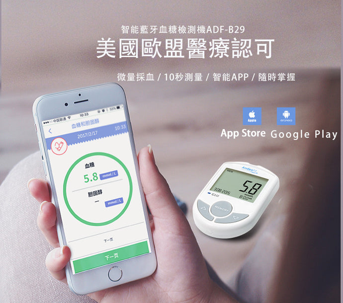 Bluetooth 4.0 Blood Glucose Meter 智能藍牙血糖檢測機