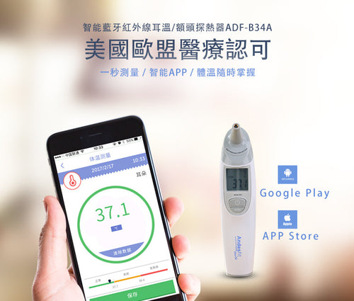 Bluetooth 4.0 Infrared Ear / Forehead Thermometer 智能藍牙紅外線耳溫 / 額頭探熱器