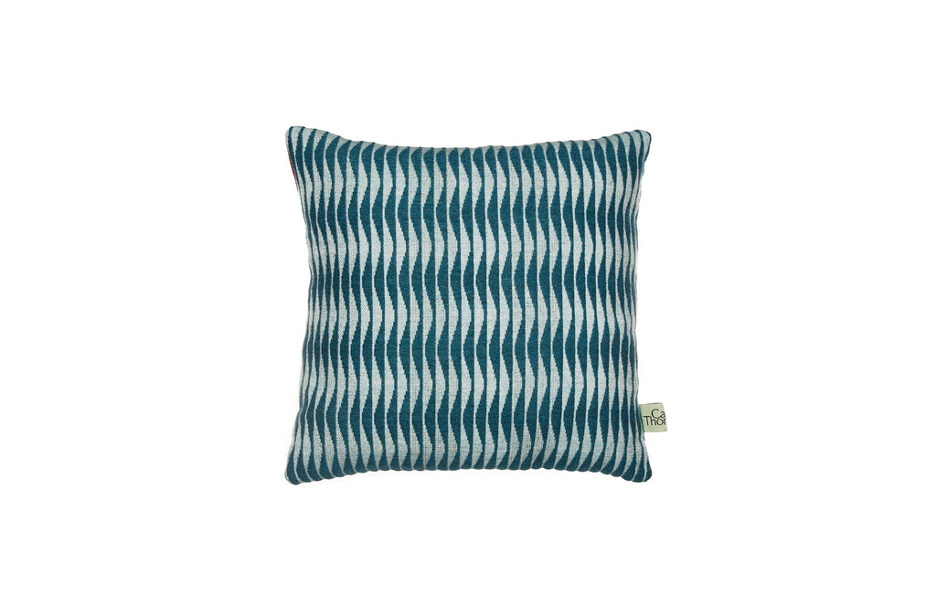 sea front cushion no.2 square with blue back