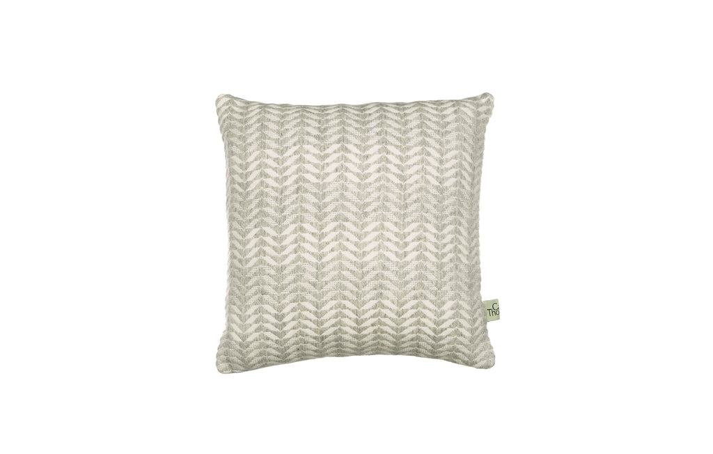sea glass cushion no.2 square grey back