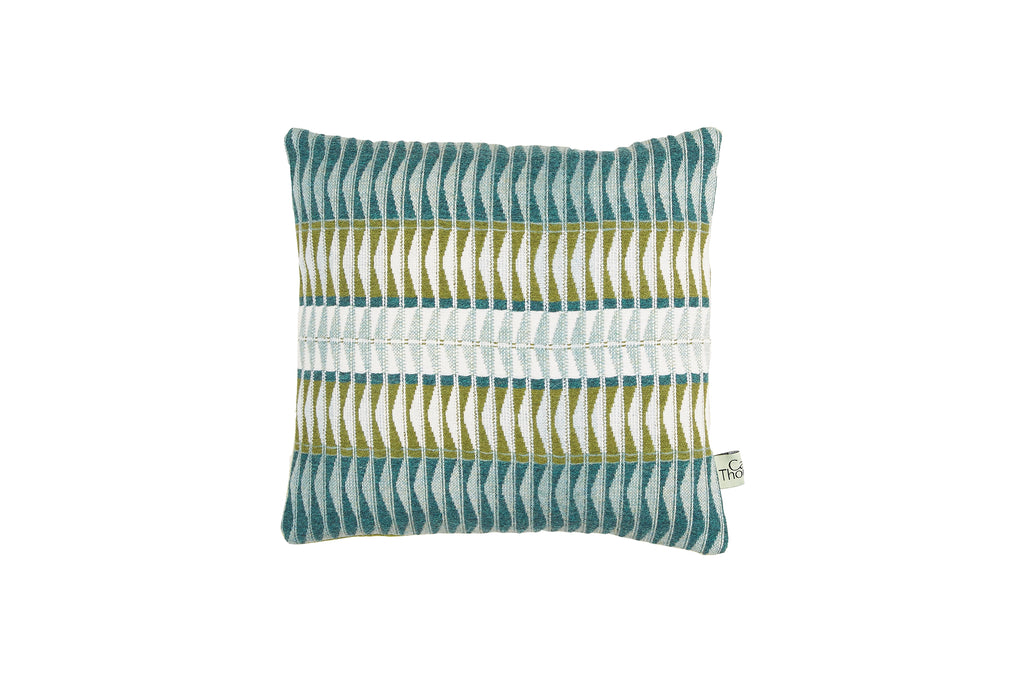 sea shore cushion, square with green back