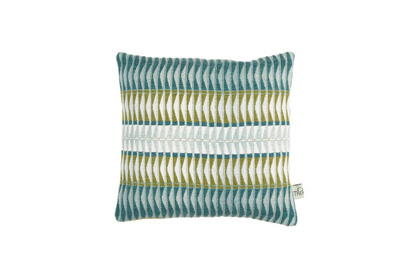 sea shore cushion, square with blue back