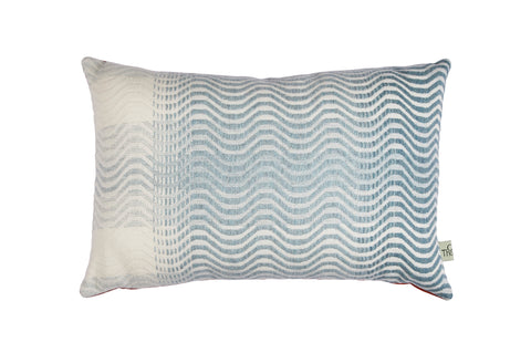 sea blue ripple cushion no.2 orange back