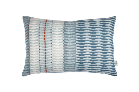 sea front cushion no.1 blue back